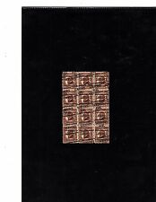 PRECANCEL SCOTT#633,1-1/2C STAMP W.G HARDING BLOCK OF 12 ZIG ZAG CANCELLATION