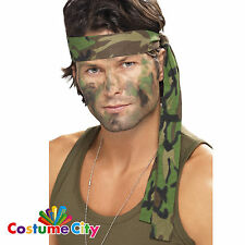 Camouflage Army Soldier Bandana Headband Camo Fancy Dress Costume Accessory
