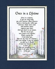 #78 Present Gift for Husband wife boyfriend girlfriend double matted Poem