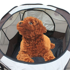 Folding Pet In/outdoor Tent Playpen Dog Fence Puppy Kennel Folding Exercise Play