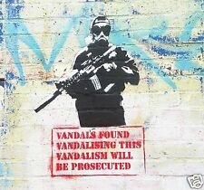 Banksy Street Art Print VANDALS QUOTE  canvas or satin photo paper