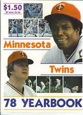 1978 MINNESOTA TWINS YEARBOOK ~~ MINT ~~ ROD CAREW
