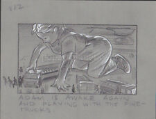 HONEY I BLEW UP THE KID '92 ORIGINAL STORYBOARD ART ALDANA ADAM PLAYS FIRETRUCKS