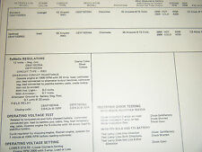 1969 FORD POLICE TAXI 240 CU IN 150 HP IMCO EMISSIONS SUN TUNE UP SPECS SHEET