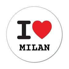 I love MILAN - Aufkleber Sticker Decal - 6cm
