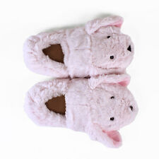 Cozy Pink Bunny Slippers - fully heatable - warm in a microwave Animal Slippers