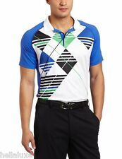 nwt~Puma PERFORMANCE Golf ARGYLE TECH Polo Graphic Shirt UV PROTECTION~Mens sz M