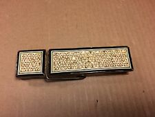 Vintage Giant Clothespin Mother-of-Pearl Inlay Extremely Nice Memo Holder Clip