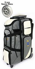 KAZE SPORTS Deluxe 4 Ball Bowling Roller Tote Bag with Smooth PU Wheels League