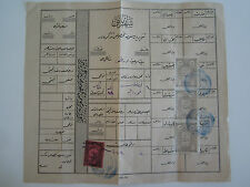 Ottoman Document Hejaz Railway red fiscal stamp OSMANLICA Hicaz Fiskali 1900s