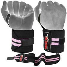 Weight Lifting Wrist Wraps Fitness Support Bandage Gym Training Straps Pink 18""