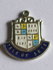 ISLE OF SKYE   Vintage Sterling Silver and Enamel Shield Travel Charm