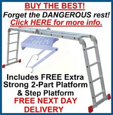 Superior 4.75m Multi Purpose Extension/Combi/Combination Ladder & Step - Ladders