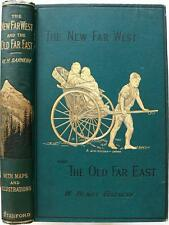 1889 1stED THE NEW FAR WEST AND THE OLD FAR EAST JAPAN CHINA FOLDOUT MAPS FINE