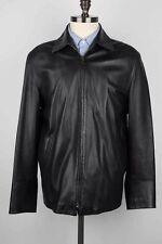 Ralph Lauren Purple Label Black Lambskin Leather Jacket, Sz M
