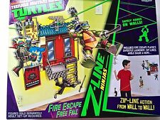 Teenage Mutant Ninja Turtles Free Wall Fire Escape set TMNT new zip line action