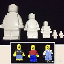LEGO FAMILY SET OF 5 BRICK MEN PLASTER PAINTING CHILDRENS PARTY SUPPLIES HOBBY