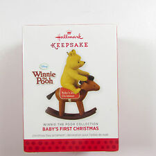 Baby's First Christmas Winnie Rocking Horse 2013 14.95 Hallmark Keepsake QXD6002