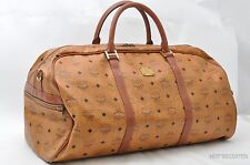 Authentic MCM Leather Vintage Boston Brown Boston Bag 23193