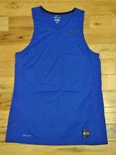 Mens Nike Dri-Fit Basketball Training Tank Top Size Large Blue Black 682995 480