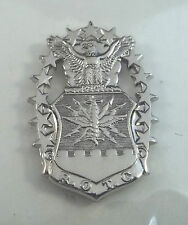 US Air Force ROTC Officer Flight Cap And Beret Badge Bright Silver Finish