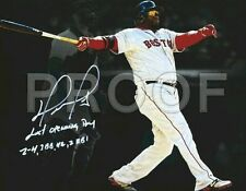 "David Ortiz Boston Red Sox 11 X 14"" Inch, Signed RP Canvas Wrap Wall Art."