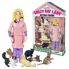 Crazy Cat Lady Action Figure Collectable Cats Gag Gift Accoutrements NEW