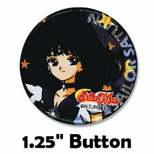 "Sailor Moon S Scout Saturn Hotaru Tomoe Outer Senshi Small 1.25"" Pinback Button"