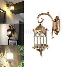 Antique Bronze Outdoor Exterior Wall Lantern Light Sconce Garden Porch Lamp