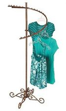 """Spiral Clothes Rack Clothing Display Retail Garment Fixture Copper 63"""" x 26"""""""