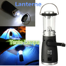 4LED Wind Up Rechargeable Lantern Lamp Bright Light With Battery Camping Fishing