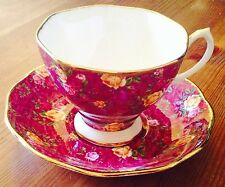VINTAGE OLD COUNTRY ROSES ROYAL ALBERT TEA CUP AND SAUCER BONE CHINA