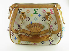 Louis Vuitton Tasche Gracie Multicolor Canvas weiß LV bag white original