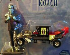 RACING CHAMPIONS THE MUNSTERS KOACH CAR W/HERMAN MUNSTER FIGURE RARE COLLECTIBLE