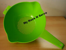 Tupperware 2 Liter Colander  Strainer with handle Green New