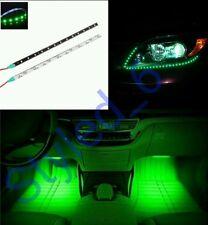 Lot 2 Bandes LED vert Waterproof 30 cm autocollants feux de jour néon tuning