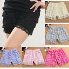 Women Tiered Shorts Lace Hot Pants Safety Bottoming Under Pants Short Leggings
