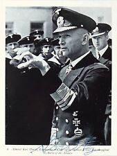 Karl Donitz German Naval Commander WW II Autograph Signed Photograph