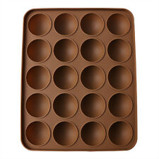 20-Half Ball Silicone Chocolate Mould Cake Candy Decor Sugarcraft Baking Mold