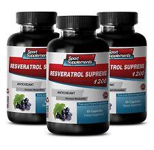 Resveratrol Supreme 1200mg - Anti-Aging, Antioxidant - Anti-Inflammatory (3 B)