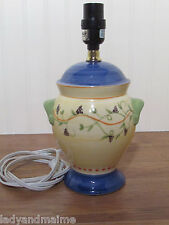Pfaltzgraff Pistoulet Table Electric Lamp with Vines