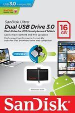 Pendrive Sandisk Dual Drive 16 GB USB 3.0 y MicroUSB Movil Tablet Memoria Ultra