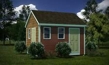 12 x 14 Storage Shed Plans Gable Roof Step By Step How To Build Guide & Drawings