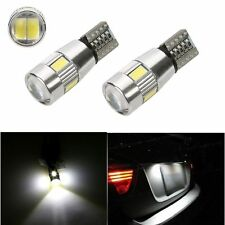 2pcs White 6 LED 5630 T10 W5W Lens Canbus Error Free Car LED Light Bulb Lamp 12V