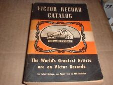 1940-41 Victor Record Catalog Over 600 pages