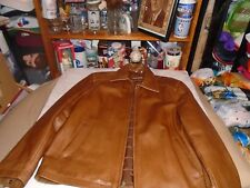 VINTAGE MENS GUESS BROWN LEATHER JACKET ADULT MEDIUM LOOKS PRETTY GOOD