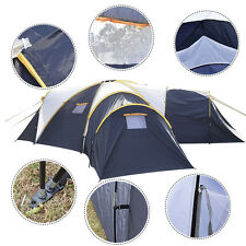 Waterproof 6-9 Person 3+1 Room Camping Tent Outdoor Hiking Two Layer Backpack