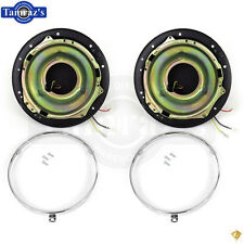 47-54 Pick Up Headlight Headlamp Light Lamp BUCKET Retainer Ring Housing PAIR
