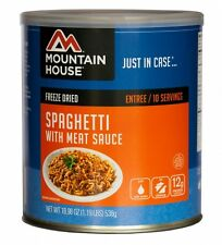 Spaghetti with Meat Sauce #10 Can - Mountain House Freeze Dried Survival Food