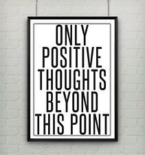 Motivational inspirational quote positive life poster picture print wall art 073